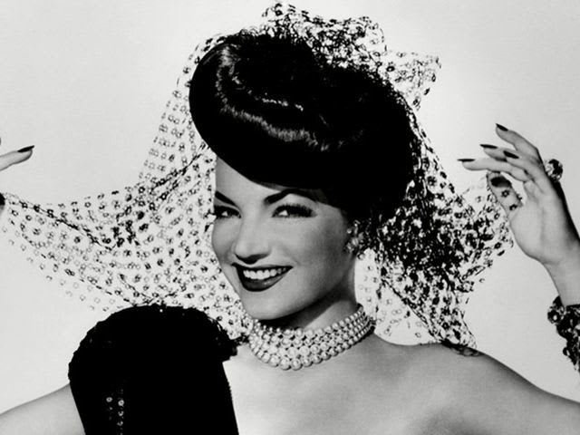 Carmen Miranda wore this glitzy dress in her most famous movie, the 1942 'The Gang's All Here'.