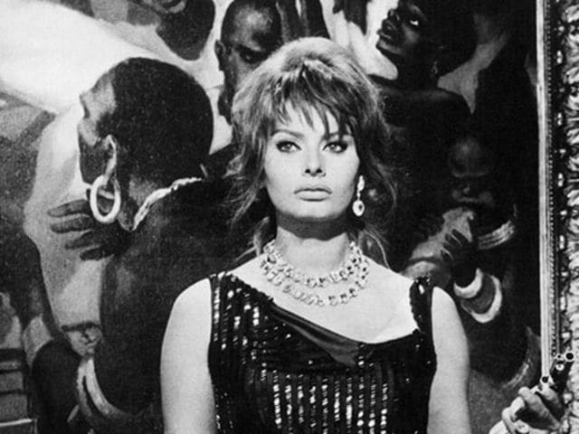 Sophia Loren was often cast as the Femme Fatal and we can see why in this dress worn in 'The Millionairess', 1960.
