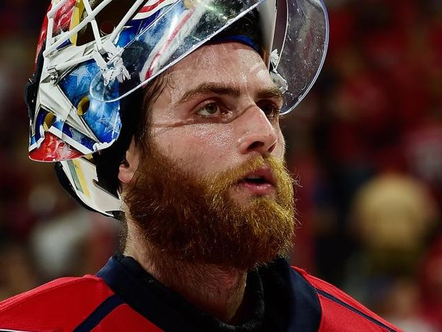 Who owns this goalie beard?