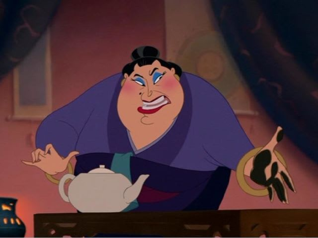 "It's The Matchmaker from ""Mulan""!"