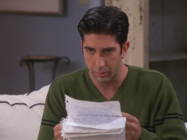 How long was the letter Rachel wrote to Ross in Season 4?