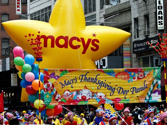 Which character has appeared the most as a Macy's Thanksgiving Day Parade Balloon?