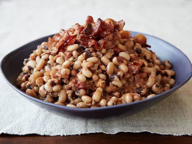 To bring good luck in the new year, black-eyed peas are served in many parts of the States!