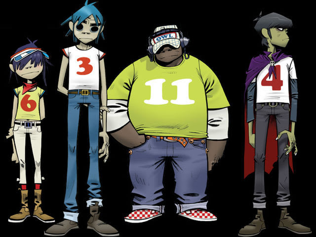Who teamed up with Damon Albarn to help create the band Gorillaz?