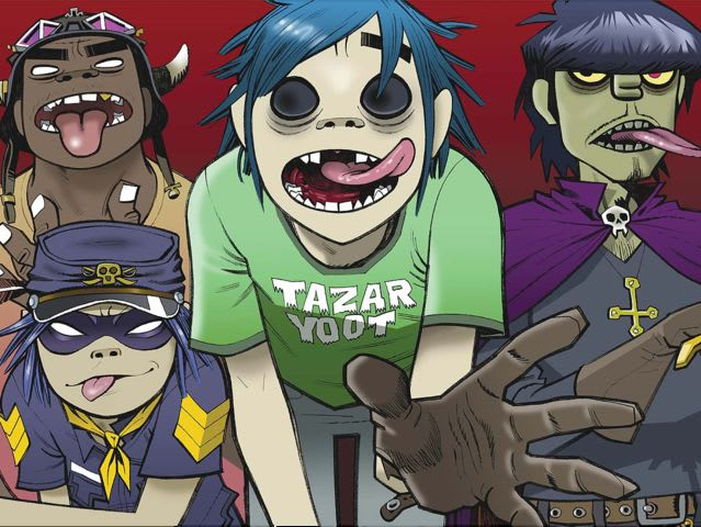 How many albums has the band Gorillaz released as of 2015?