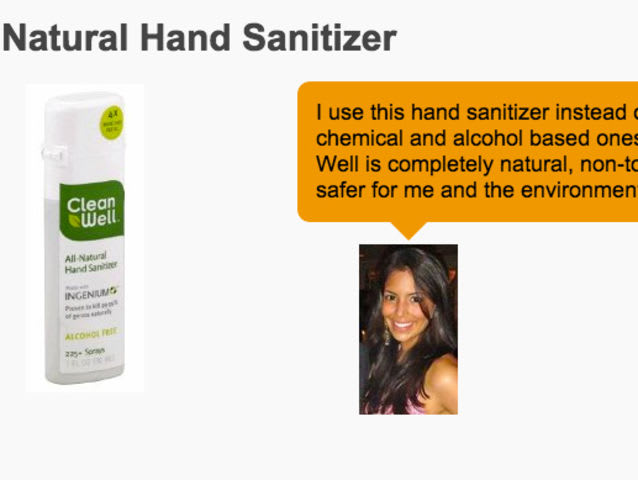 "What's the major contradiction in Vani Hari (the ""Food Babe"") selling this brand of hand sanitizer?"