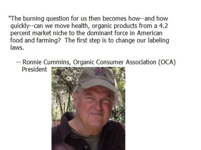 What could be a possible motivation for the organic food industry's push to require labeling of GMO products?