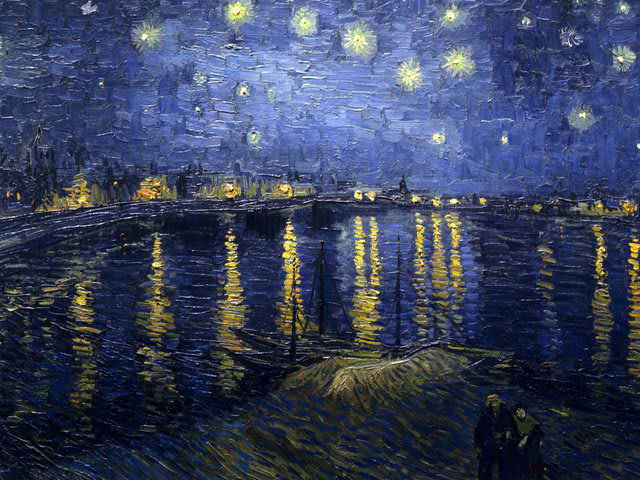 """Starry Night Over the Rhone"" (1888)"