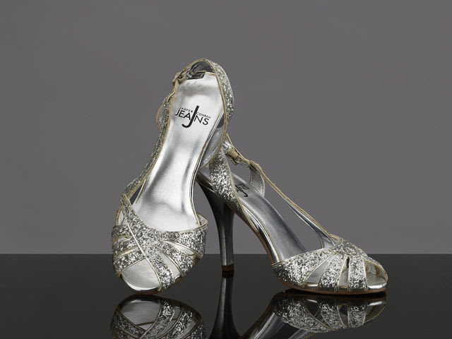 Who donated these sparkly silver heels?