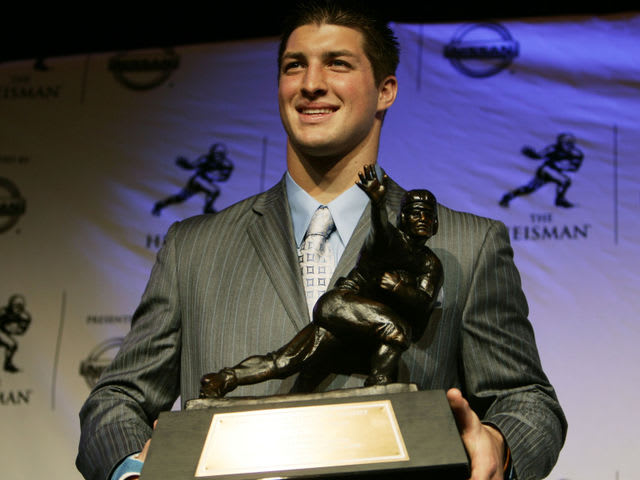Tebow won the award as a Sophomore for Florida in 2007.