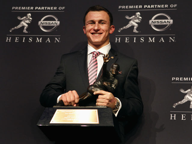 Johnny Football won the award as a freshman at Texas A&M in 2012.