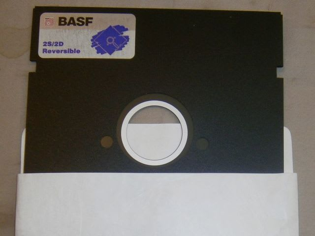 A floppy disk is a thin, flexible, magnetic donut-shaped tape that was sealed in a rectangular plastic envelope and used for storing computer data. They were popular between the 1980s and early 2000s.