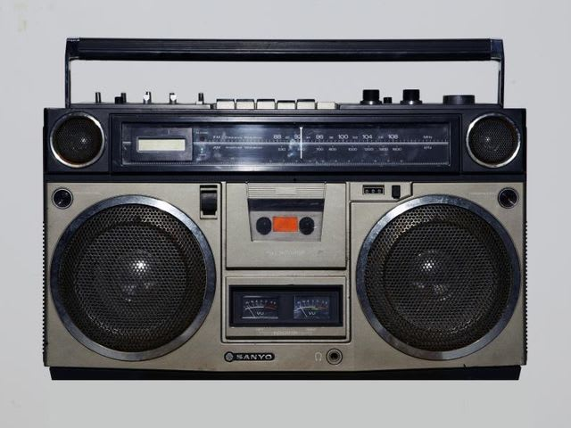 A boombox was a portable cassette or CD player with two or more loudspeakers and a handle. They were popular from the late 1970s to the 1990s.