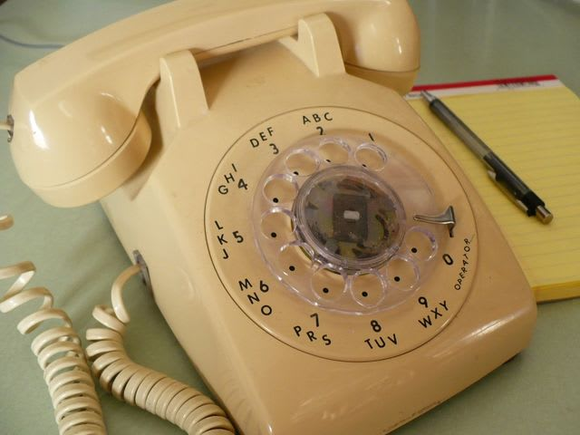 Rotary telephones had their numbers arranged in a circle so that a wheel could be rotated with one finger. They were popular until the early 1970s.