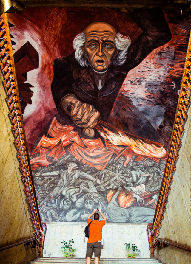 10 obras de arte para recordar a jos clemente orozco for El mural guadalajara