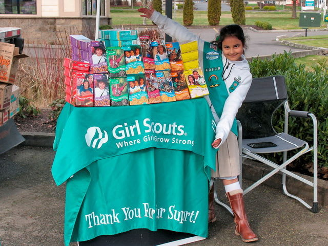 The girl scouts _____ cookies tomorrow, so you had better bring some cash!