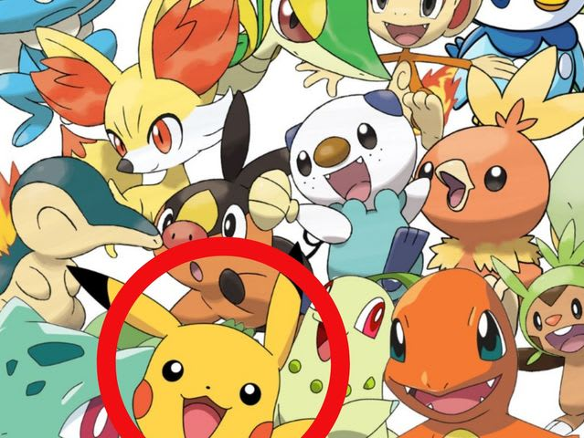 Pikachu was mainly hiding in Section 2, but if you said 1 or 3, you'd also be correct!