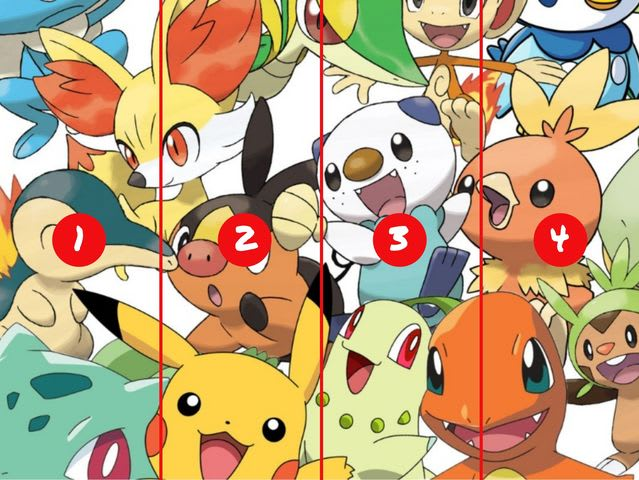 We'll start with a super easy one. Which section is Pikachu hiding in? (Click the x in the corner of this textbox to see the full image.)