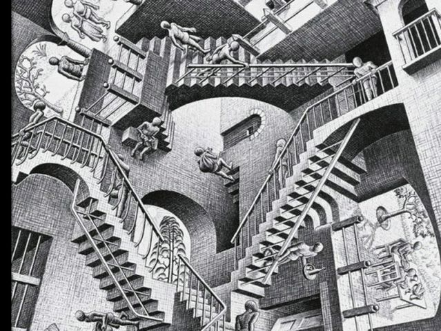 In this picture, how many perspectives can you see?