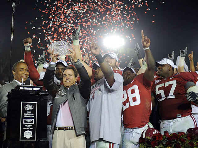 This is Alabama's only undefeated National Championship team under Nick Saban: