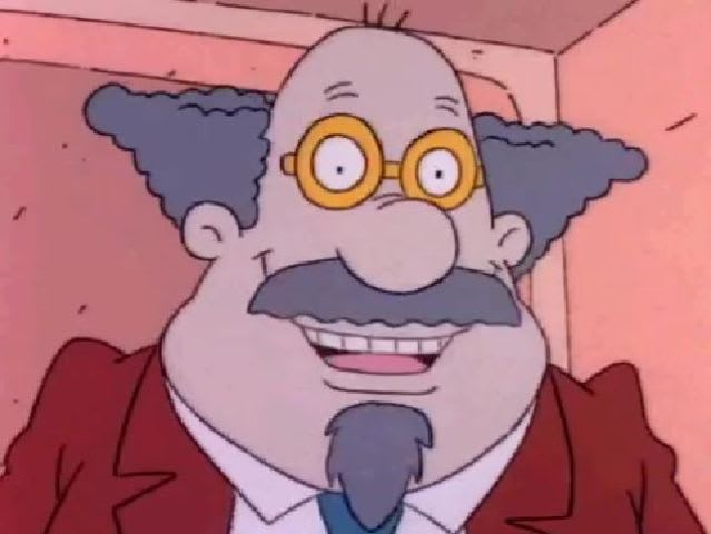 Mostly a quack, Dr. Lipschitz gives pretty pompous and bizarre advise on raising babies, and Tommy's mom DeeDee is one of his biggest fans.