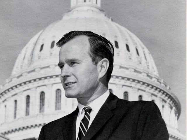 What U.S. president started his political career as a Houston congressman?