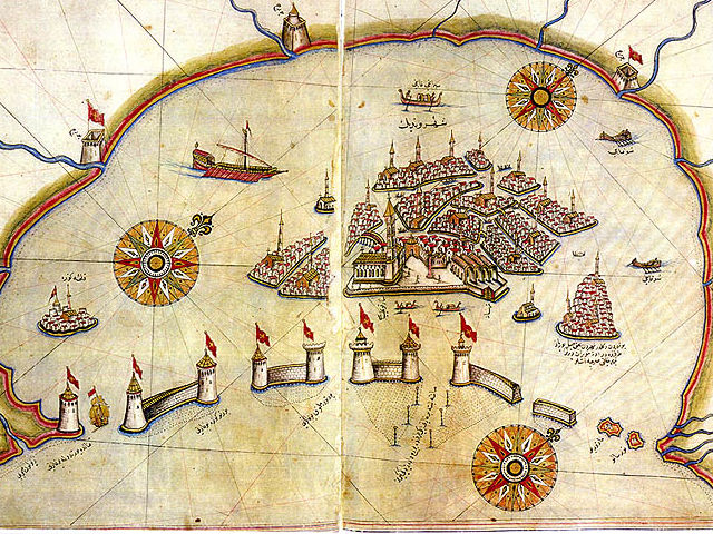 Venice, drawn by the 16th century Ottoman geographer Piri Reis