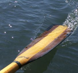 The end of a boat oar