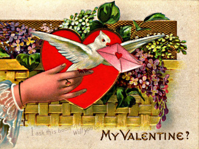 Valentine's Cards were first mass-produced in the 1840s.