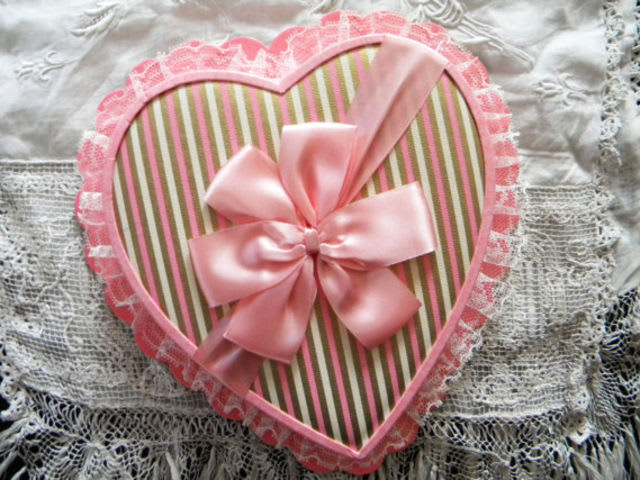 The first heart-shaped box of chocolates was introduced in 1934.