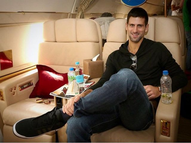 Djokovic hates flying, so insists on his favourite movie, 'Marley & Me', being shown on every flight to calm his nerves.