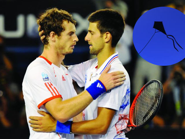 Djokovic revealed in 2011 that he and best friend Andy Murray first bonded over flying kites together near Melbourne Park.