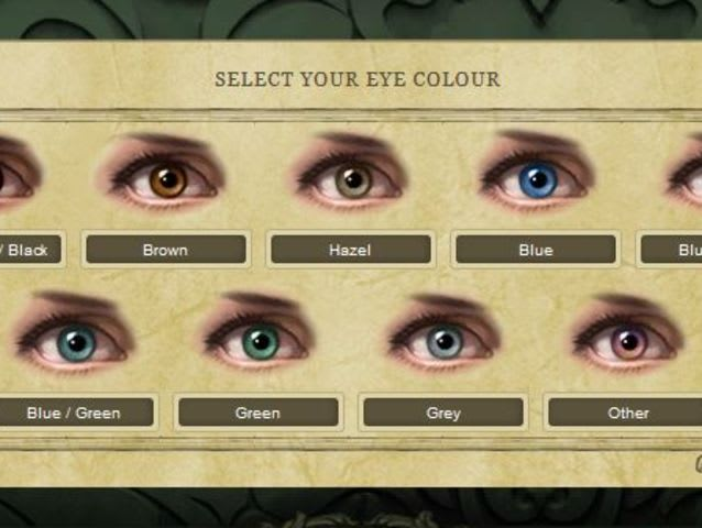 Let's get the obvious questions out of the way. What color are your eyes?