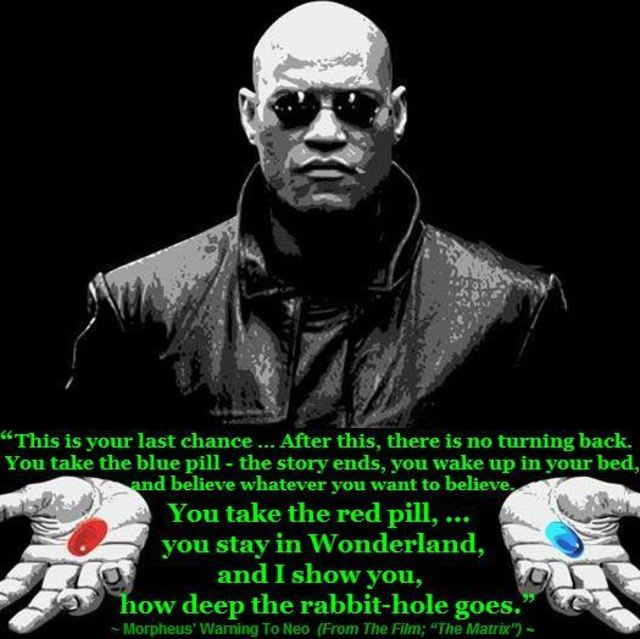 will you take the blue pill or the red pill?