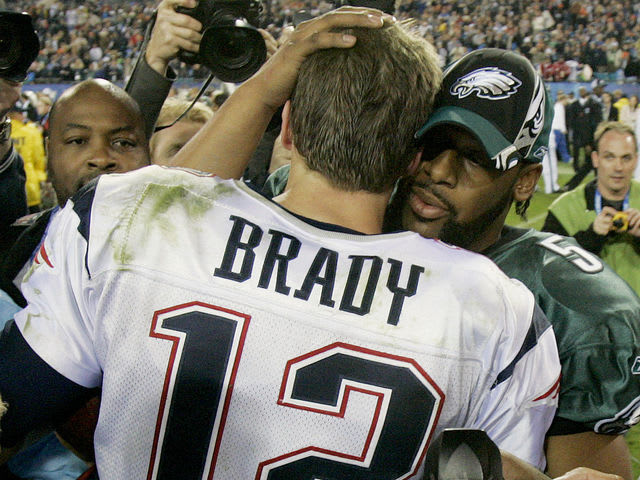 How many times have the New England Patriots been to the Super Bowl since they beat the Eagles?