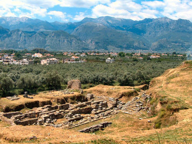 To visit the ruins of Sparta, you would have to travel to what present-day country?