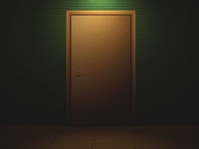 You're in a room with a closed door when you suddenly hear gunshots. What do you do?