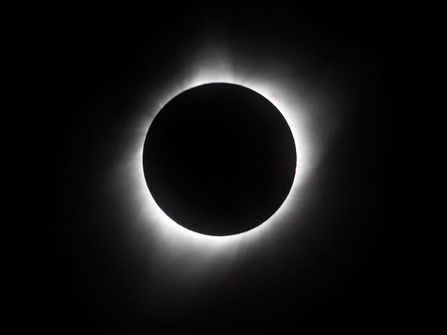 """The Great American Eclipse"" was visible within a band across the entire contiguous United States of America, passing from the Pacific to the Atlantic coasts."