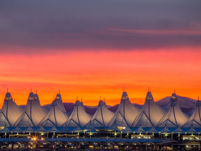What is the airport code for Denver?