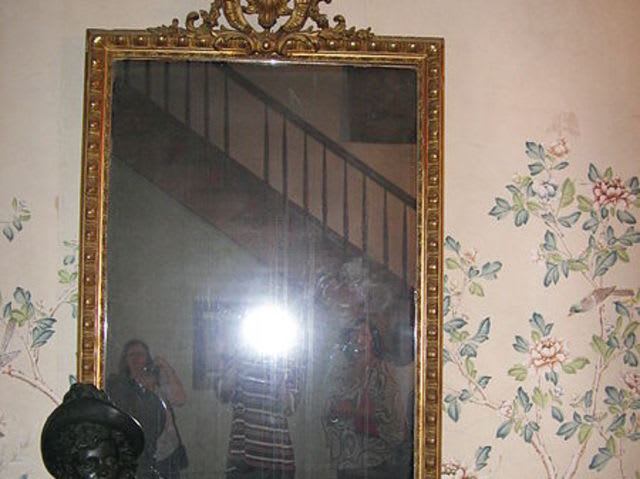 This creepy mirror is located at Myrtles Plantation, a bed and breakfast frequently called the most haunted home in the U.S. Because it wasn't covered like custom dictates after the poisoning deaths of Sarah Woodruff and her children, the mirror is said to contain their spirits, often showing child-sized handprints and their shadowy figures.