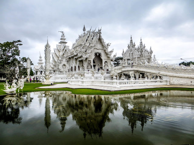 The White Temple in Chiang Rai, Thailand, is actually an art gallery and one of the most visited destinations in Northern Thailand