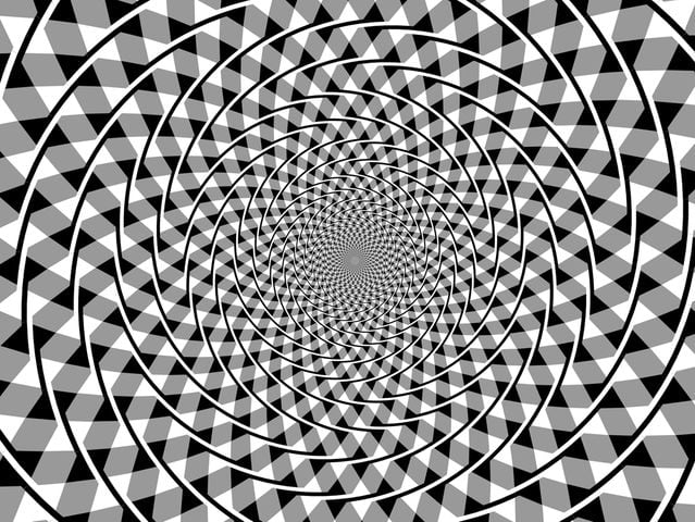 Those aren't spirals, you can use your finger to check. Optical illusion realness