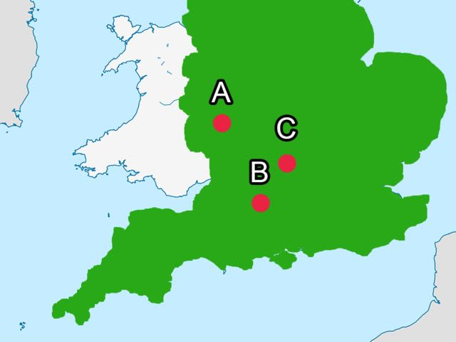Can You Place These Cities On A Map Of England - Where is oxford