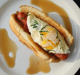 Fried egg! Breakfast dog.