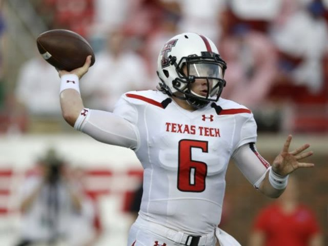 Due to an injury, Mayfield started the season opener for the Red Raiders as a true freshmen walk-on.