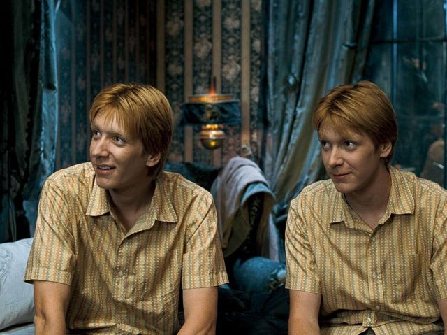 George is the Weasley on the right in this image.