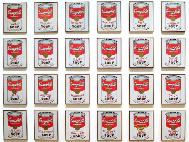 Campbells Soup Cans by Andy Warhol