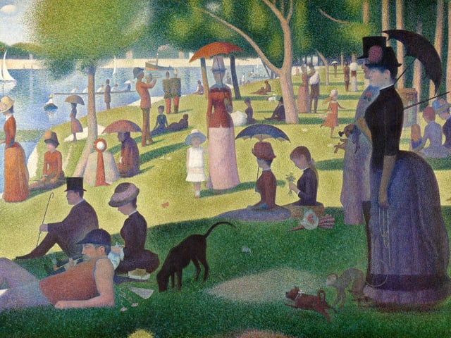 A Sunday Afternoon On The Island Of La Grande Jatte by Georges Seurat