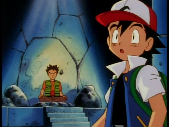 In which city did Ash's first gym battle take place?