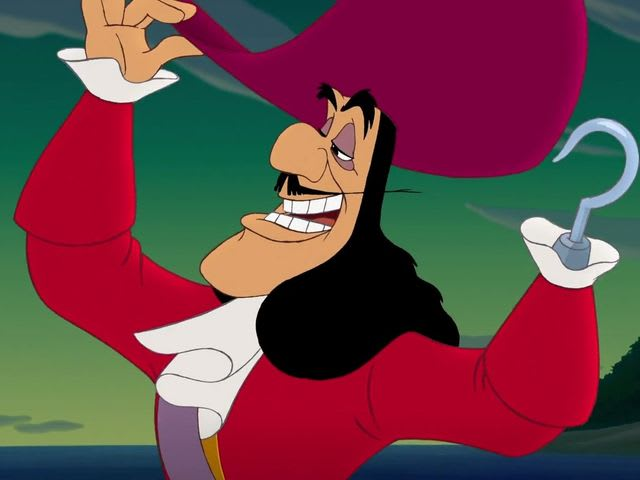It's our favourite metal-handed friend - it's Captain Hook, everyone!
